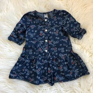 Old Navy Blue Button Down Dress